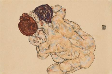 Egon Schiele - Umarmung (1917)
