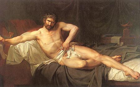 Guillaume Guillon Lethiere - La mort de Caton d'Utique (1795) - Musée de l'Hermitage Saint-Pettersbourg