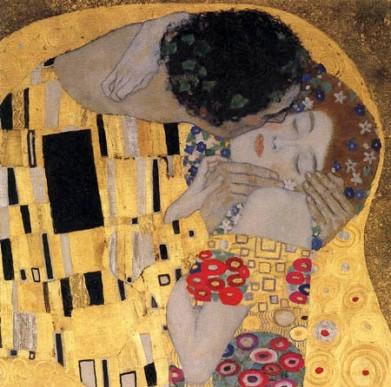 Gustav Klimt - Le baiser (détail)