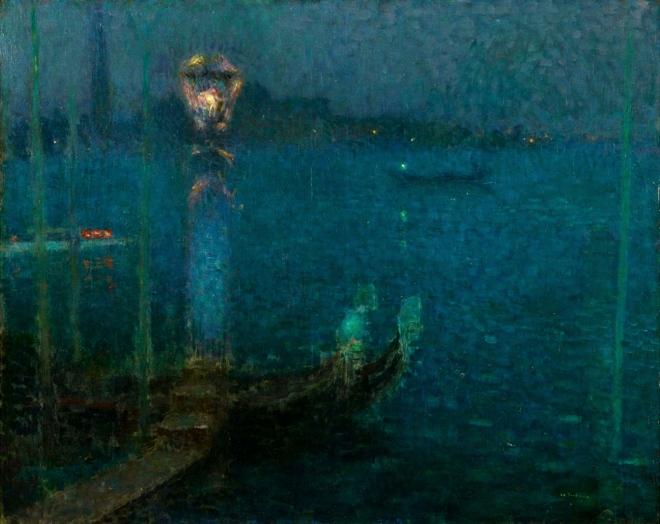 Henri Le Sidaner - Le Bec de Gaz - Nuit bleue 1906