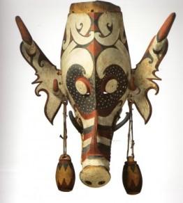 Masque Hudoq - Kenyah Kayan – Indonésie – Ile de Bornéo (Quai Branly)