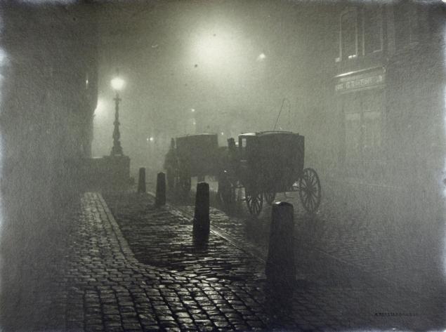 Henri Berssenbrugge (1873-1959) - Calèches dans la nuit 1910-1920