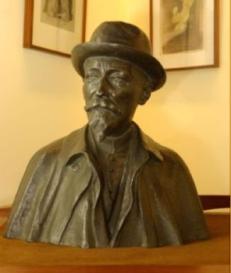 Max Elskamp (1862-1931) - bronze par A-J Strymans