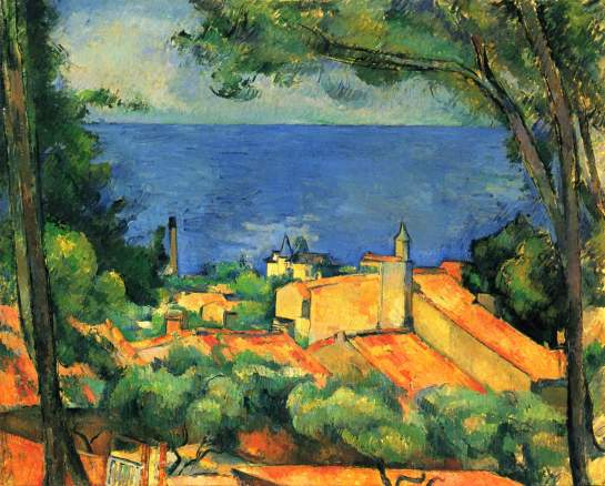 Paul Cézanne - L'Estaque les toits rouges - 1885