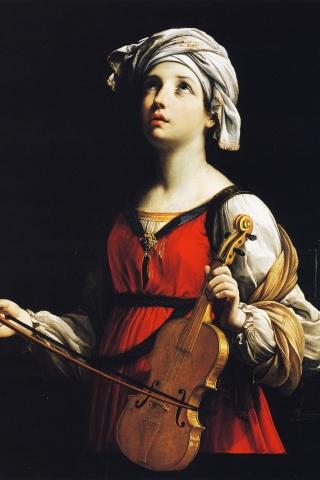 sainte-cecile-guido-reni-1606-huile-sur-toile-pasadena-usa