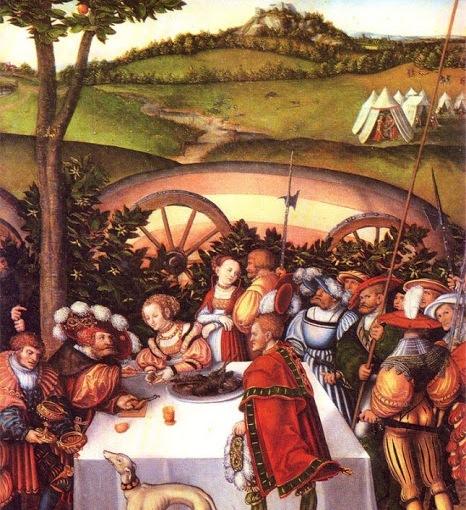 Lucas Cranach - Judith dînant avec Holopherne - 1530