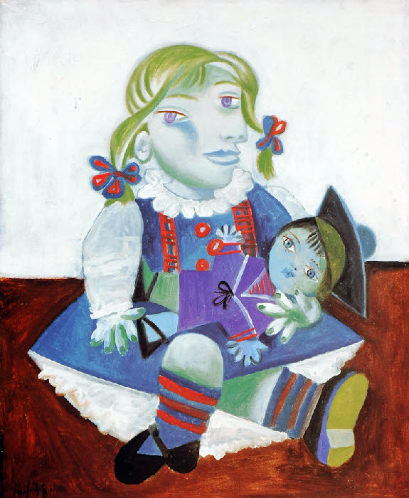 Picasso - Maya à la poupée - 1938