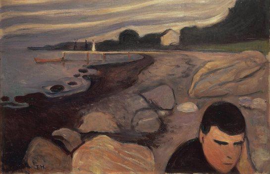 Edward Munch - Jappe sur la plage - Oslo