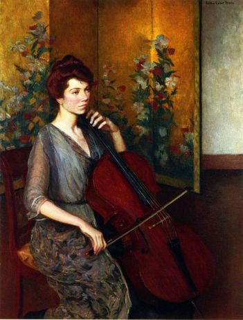 Lilla Cabot Perry (1848-1933) - Violoncelliste